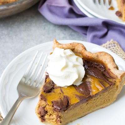 Swirled Chocolate Pumpkin Pie {+ Giveaway}