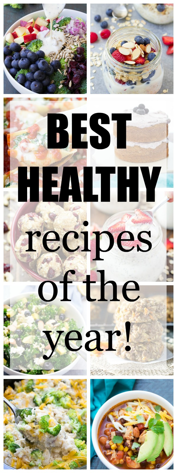 The BEST healthy recipes of the year! Slow cooker, salads, overnight oats, breakfast cookies and more! | www.kristineskitchenblog.com