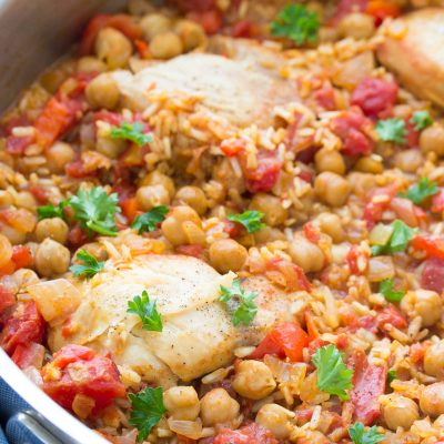 One Pot Spanish Chickpea Chicken