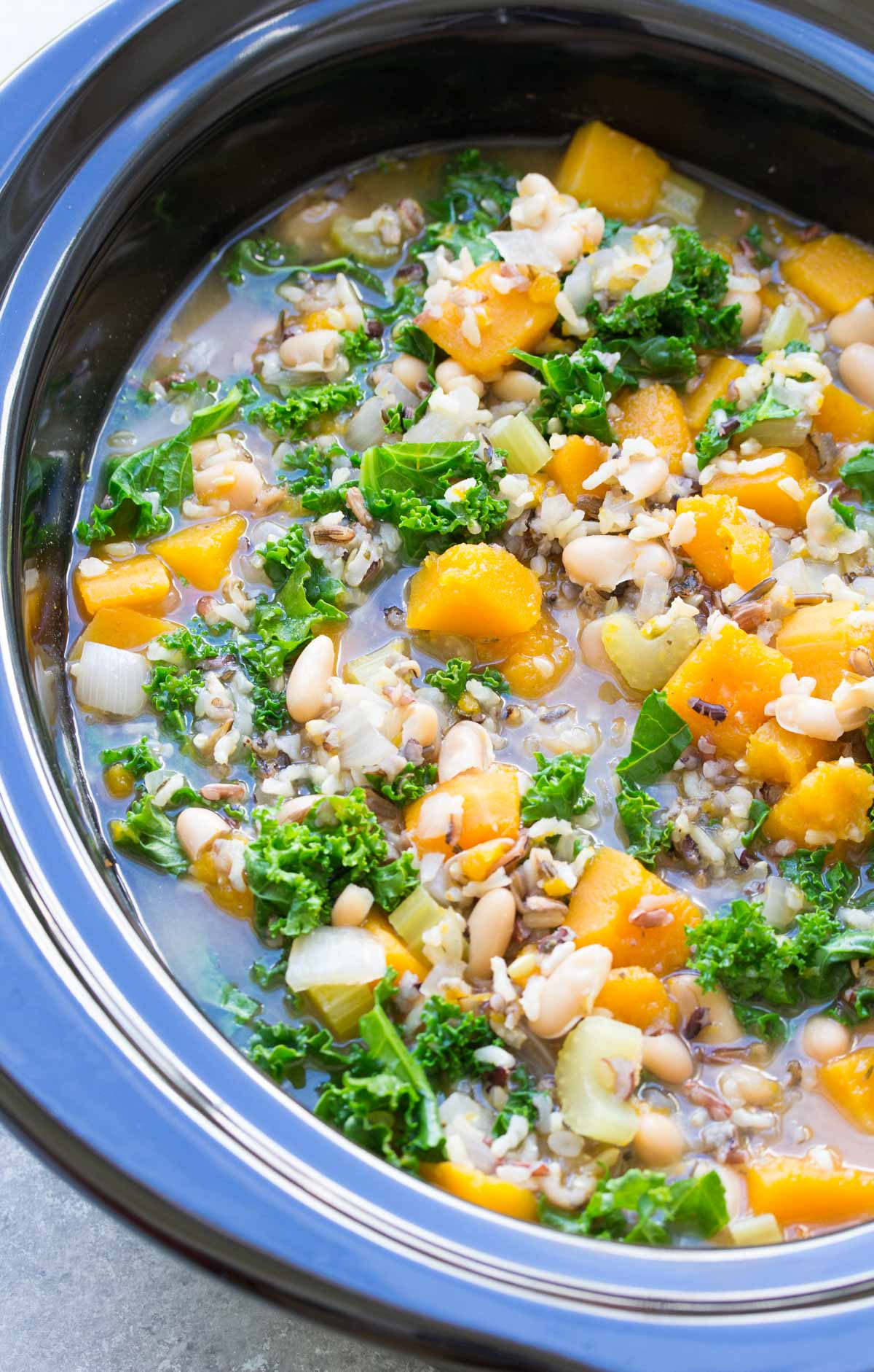 Slow Cooker Wild Rice Vegetable Soup