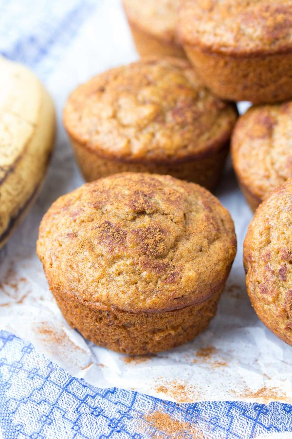 One bowl cinnamon banana muffins whole wheat healthy why we love these cinnamon banana muffins forumfinder Image collections