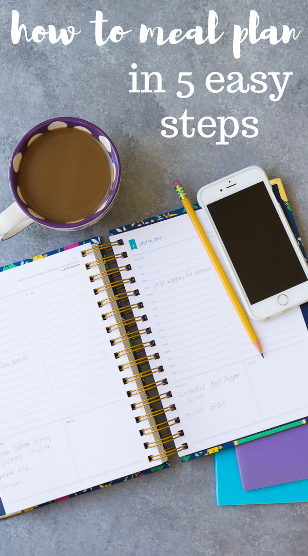 How to Meal Plan in 5 Simple Steps. Smart ideas to begin meal planning, eat healthy, and stress less! | www.kristineskitchenblog.com