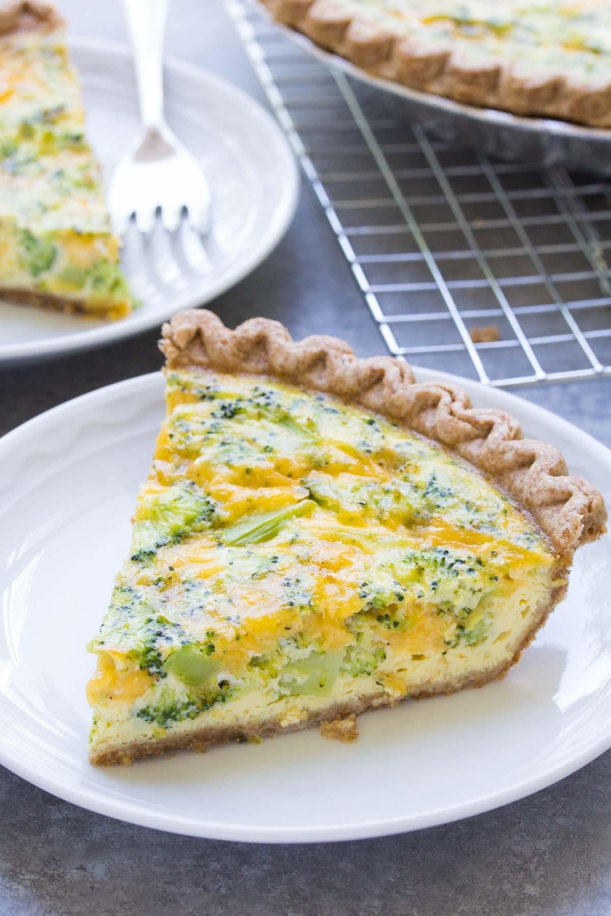 Easy Broccoli Cheese Quiche 5 Ingredients