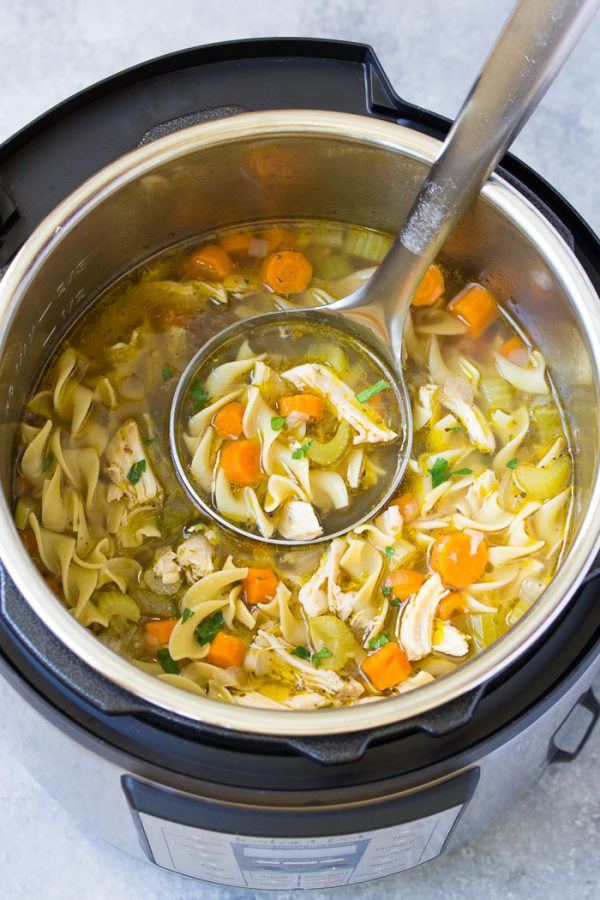 Instant Pot Chicken Noodle Soup Easy And Healthy Recipe