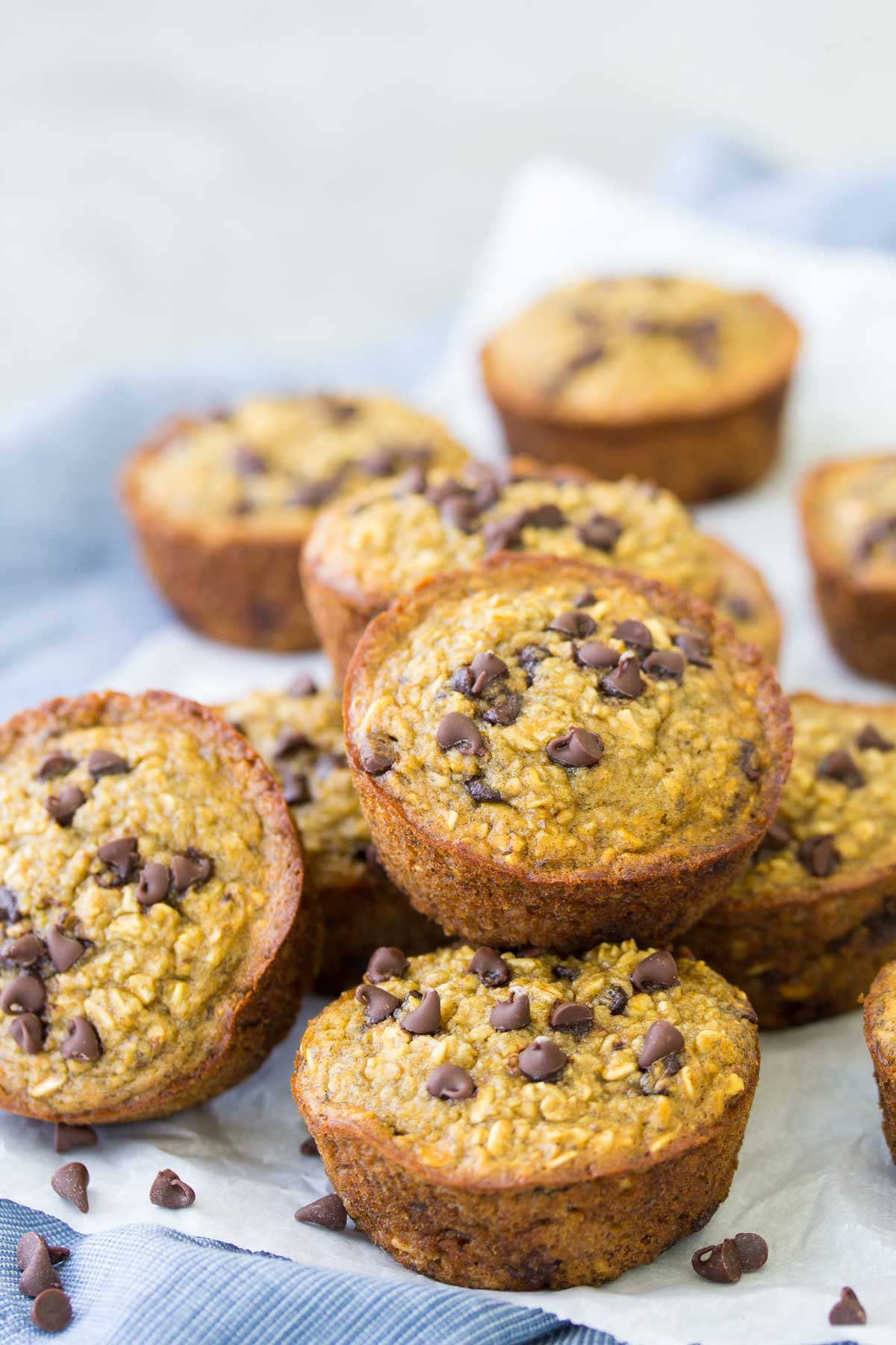 These flourless Healthy Blender Banana Muffins are dairy-free and gluten-free. They are quick and easy to make in your blender! These healthy muffins freeze well for meal prep breakfasts and snacks!