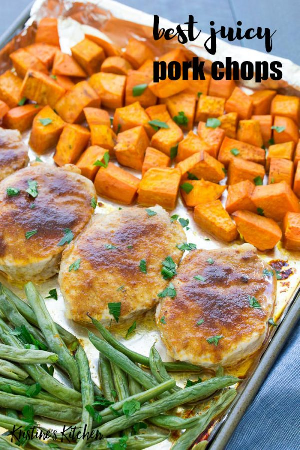 My best easy oven baked pork chops are juicy and flavorful! A simple rub made with brown sugar and paprika takes this healthy baked boneless pork chops recipe to the next level! With my tips, your pork chops will turn out tender and juicy, never dry.
