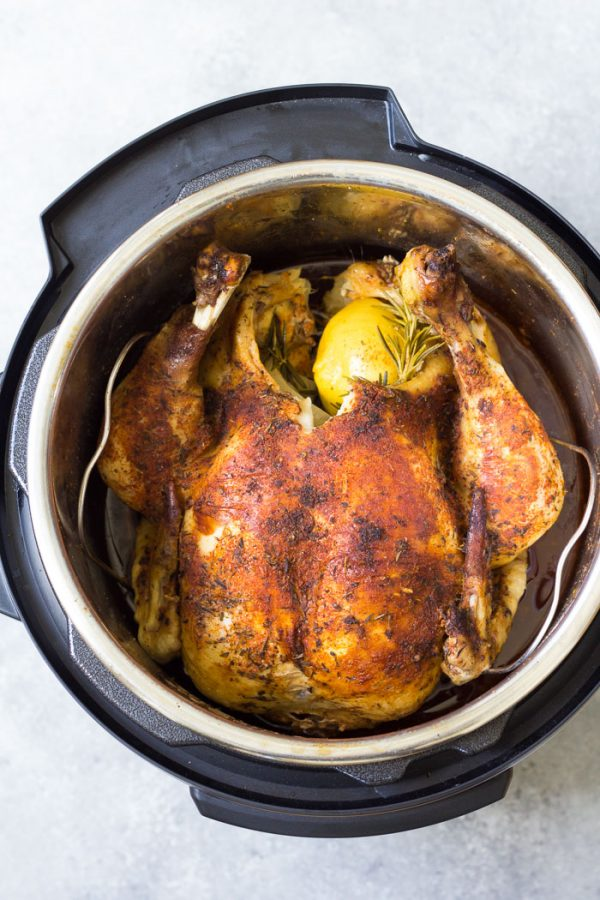 How To Cook A Whole Chicken In An Instant Pot Fresh Or Frozen Kristine S Kitchen