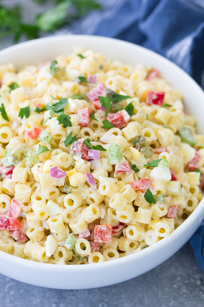 Classic Macaroni Salad Quick Easy Recipe