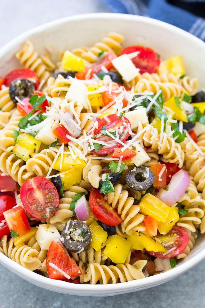 Italian Pasta Salad Easy Healthy Recipe