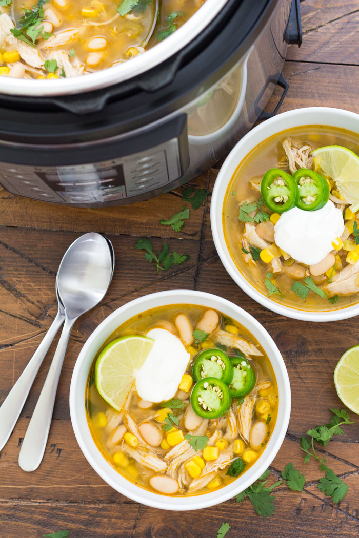 Instant Pot White Chicken Chili Easy And Healthy