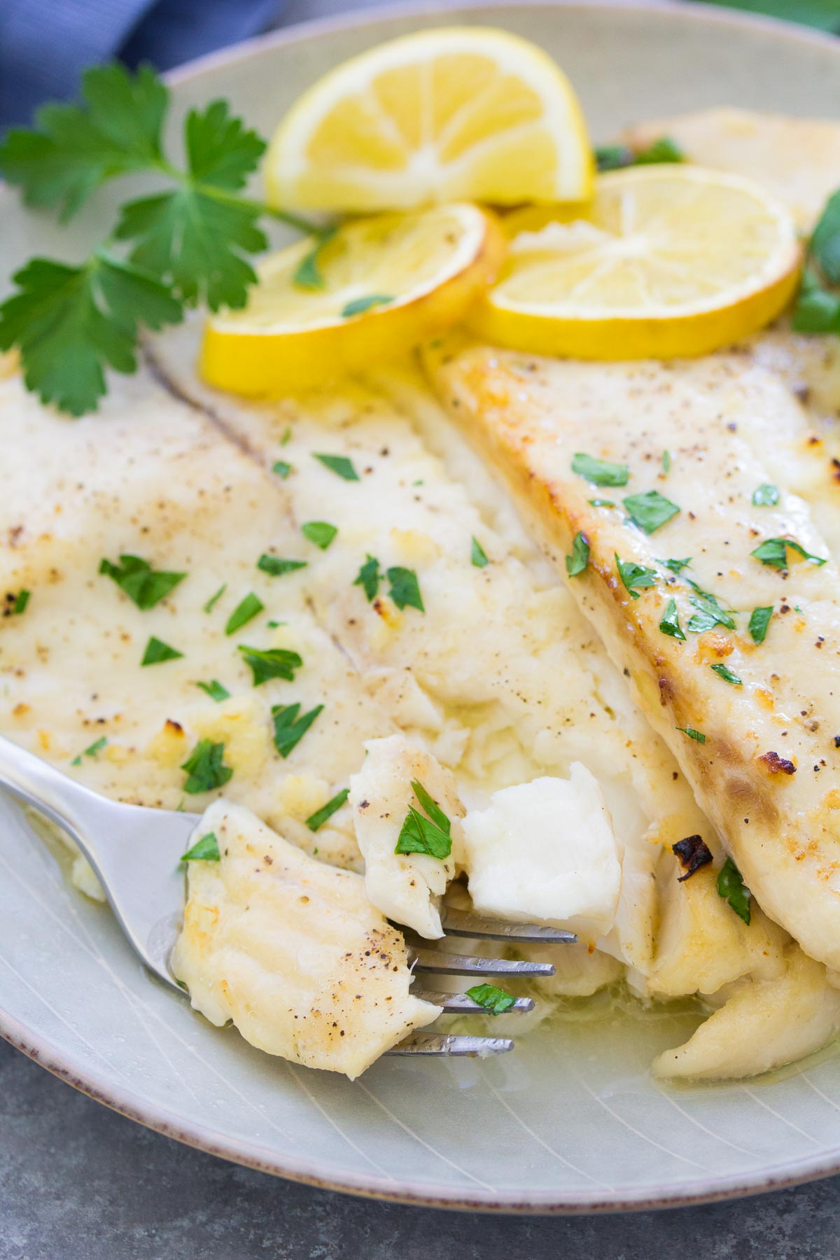 Baked Tilapia With Lemon Garlic Butter Easy Tilapia Recipe